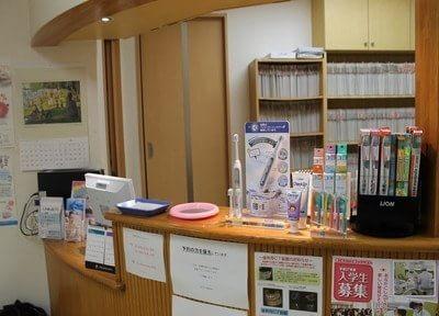 受付では、おすすめの歯科用品を置いています。