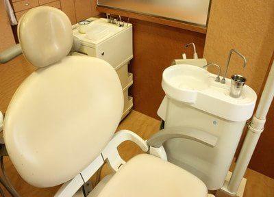 清潔さが光る、診療チェアです。