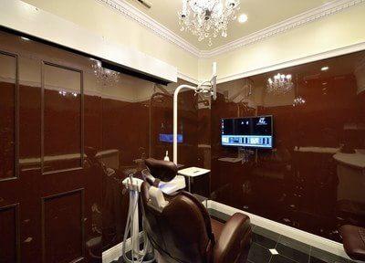 全ての診療室は細部までこだわり、洗練されたデザインです。