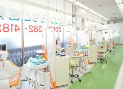 診療室内は各ユニットがパーテーションで仕切られているので、落ち着いて治療を受けて頂けます。