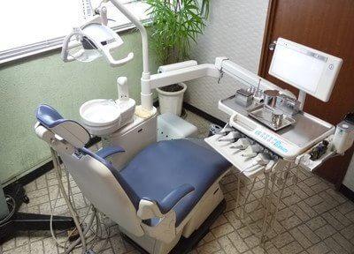 診療室には植物を置き、患者様がリラックスできるようにしています。