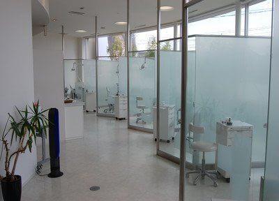 診療室は全て仕切られております。