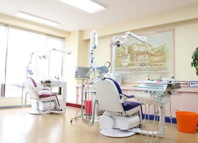 診療室はスペースが広く、開放感があります。