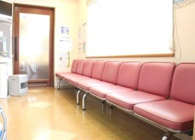 陽光の差し込む待合室で、くつろいでお待ちください。